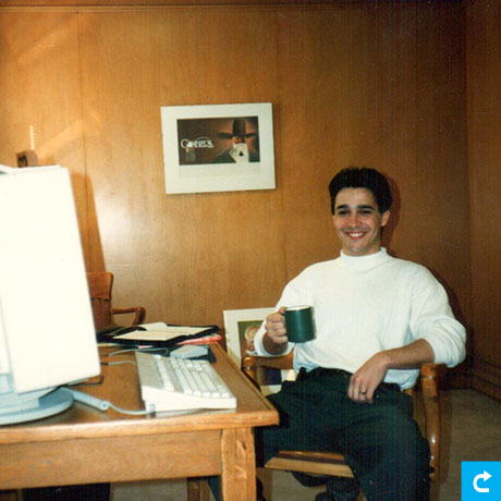 Stephen Lynch at L2 office 1991