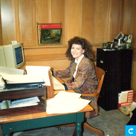Tammy Lynch at L2 office 1991