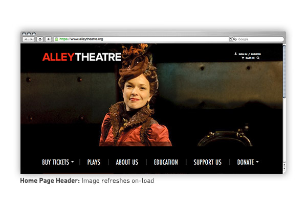 Home page header featuring the actors