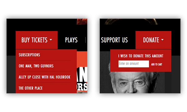 Buy Tickets and Donate Buttons
