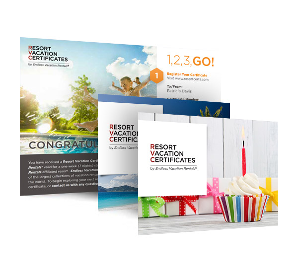 L2 Interactive Creative Digital Agency Resort Vacation Certificates